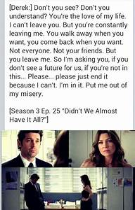 I can't lea... Mcdreamy Love Quotes