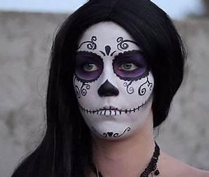 Maquillage D Halloween Pour Fille : maquillage de squelette pour fille tartine au chocolat ~ Melissatoandfro.com Idées de Décoration