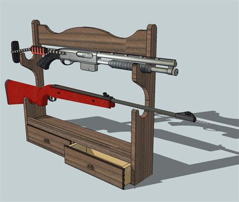 guide gun rack woodworking project wood working project plan
