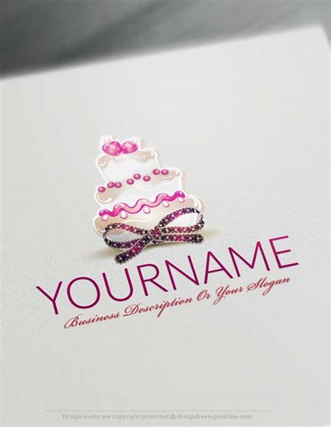 logo maker cake logo template