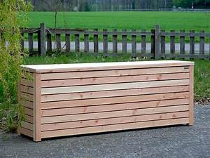 Holz Versiegeln Wasserdicht : auflagenbox kissenbox gartenbox holz wasserdicht atmungsaktiv oberfl che natur ~ Watch28wear.com Haus und Dekorationen