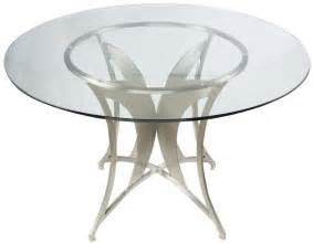 netted glass table l clear glass dining table from armen living coleman 3469