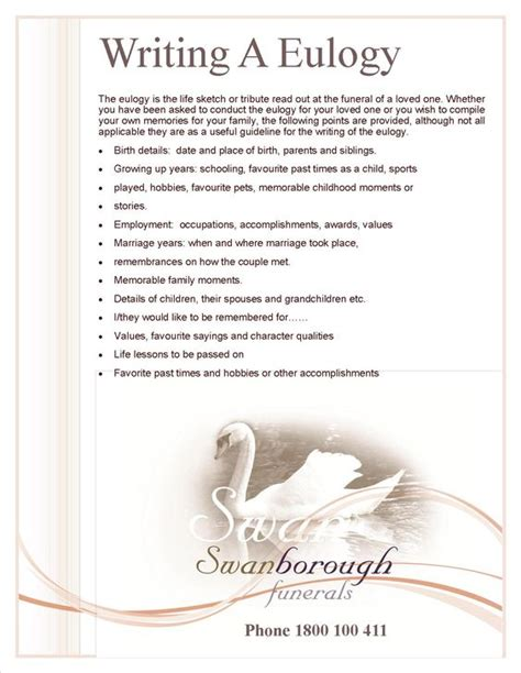 Template Eulogy by Writing A Eulogy Funeral Ideas