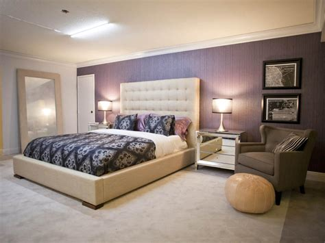 purple bedroom accent wall photo page hgtv
