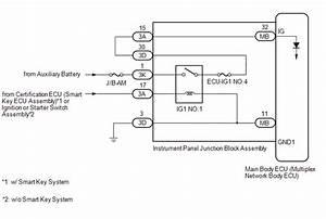 Ignition Key Toyota Ignition Switch Wiring Diagram