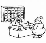 Recepcionista Receptionist Colorir Colorear Desenho Pintar Colorare Dibujo Dibujos Dell Disegno Dibuix Line Disegni Acolore Profissoes Profesiones Desenhos Como Dibuixos sketch template