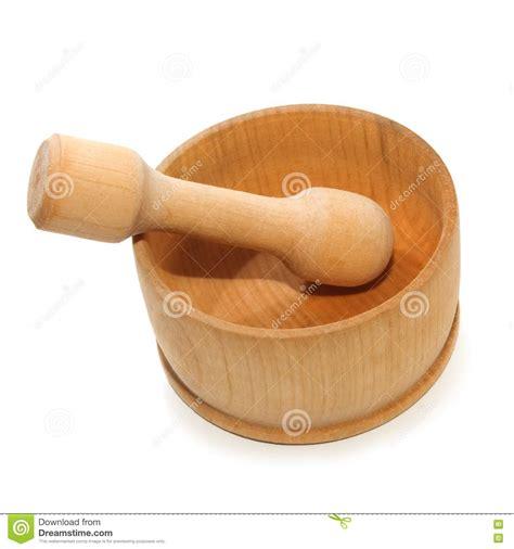 mortier cuisine bois mortier bois effectué d 39 isolement images stock image 9972954