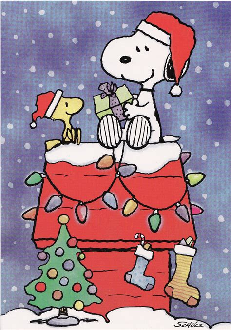snoopy christmas images snoopy and woodstock i lucked into a pack of nearly vintag flickr