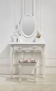 Miroir Pour Coiffeuse : magnifique coiffeuse avec miroir et si ge tiroirs table de maquillage achat vente coiffeuse ~ Teatrodelosmanantiales.com Idées de Décoration