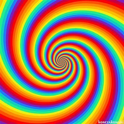 Colors Fractals Rainbow Vibrant Illusions Swirls Gifs