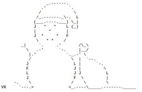 snowmen  snow people  ascii text art christmas