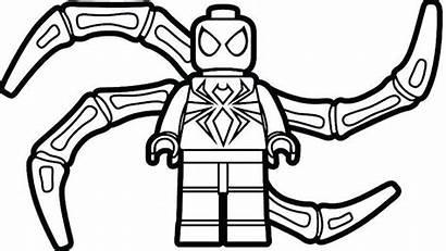 Coloring Pages Ninja Lego Spider Spiderman Batman
