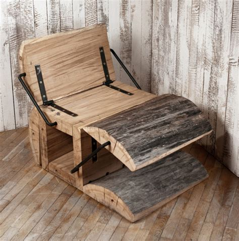 Ergonomic Living Room Furniture by Rustic Eco Friendly Chair Of An Oak Log Digsdigs