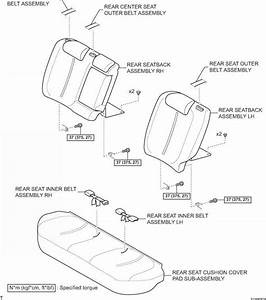 Rear Seat Outer Belt Assembly For Sedan Components
