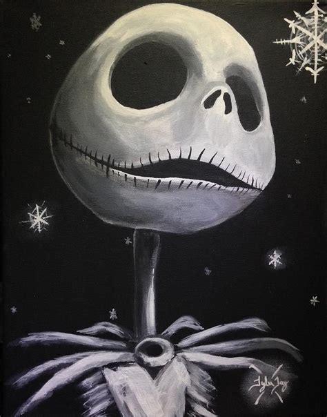 Nightmare Before Christmas Jack Skellington Wallpaper Jack Skellington Painting By Tyler Haddox