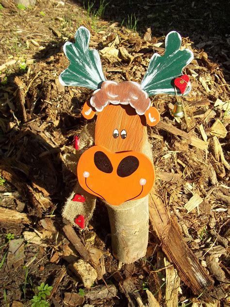 Gartendeko Holzfiguren by Elch Holzfigur Baumstamm Gartendeko Wood Craft Holzdeko