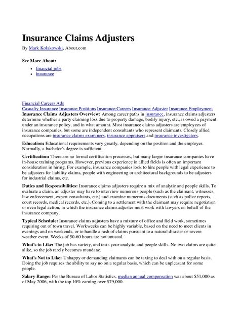 property insurance adjuster resume 28 images claims