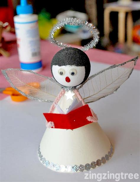 how to make a cute singing christmas angel decoration
