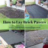 how to lay brick patio How to build a pavers patio | Creative Unravelings