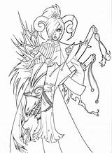 Demon Deviantart Coloring Adult Demons Colouring Drawings sketch template