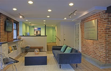 office estate modern lobby lounge contemporary offices furniture decor agent interior spaces marin agents sales opens room showcase chair street