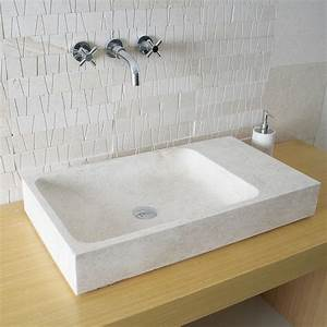 vasque a poser rectangulaire trendyyycom With support vasque salle de bain