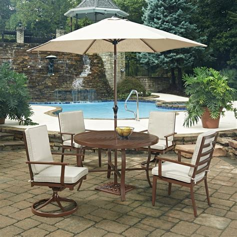 key west 7 pc outdoor dining table 2 swivel
