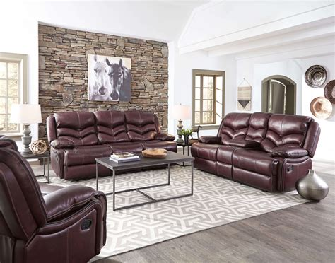 Living Room Furniture For Sale In Usa by Denali Leather Reclining Sofa And Loveseat By Standard