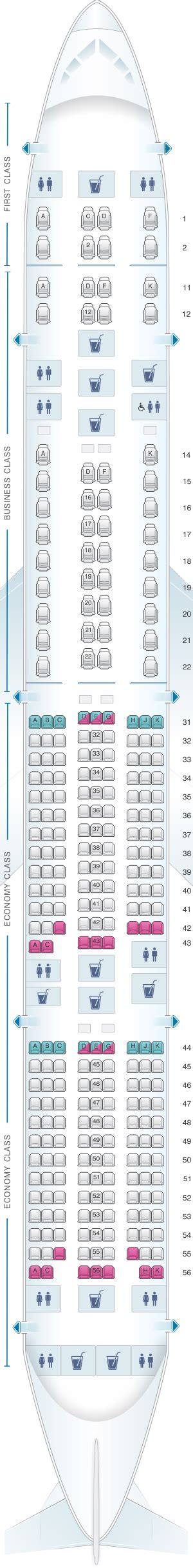 seat map singapore airlines boeing b777 300er three class
