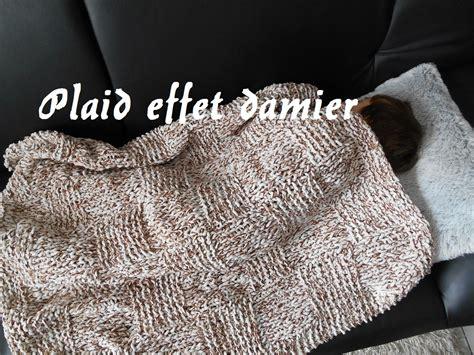 tricoter un plaid en tricoter un plaid couverture fa 231 on damier