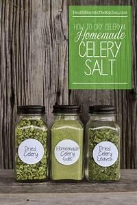 Homemade Celery Salt, Dried Celery & Dried Celery Leaves ...