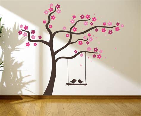 tree  love birds   swing wall graphics wall