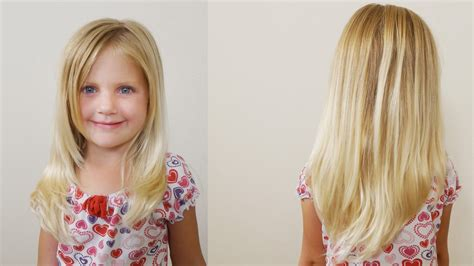 how to cut girls hair long layered haircut for little
