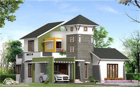 villa house plans unique 2220 sq villa elevation kerala home design and floor plans