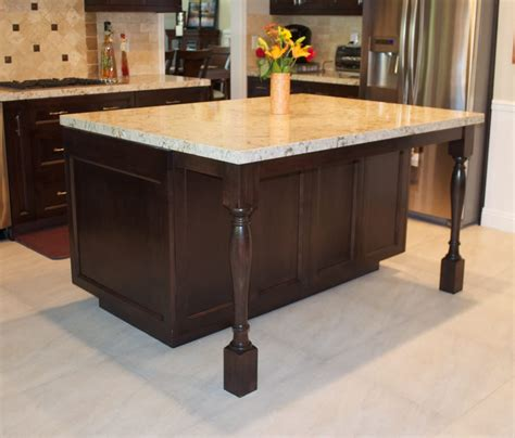 wood kitchen island legs yorba kitchen island after photo turned legs design