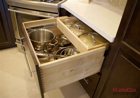 custom kitchen cabinet drawers cabinet accessories storage solutions kabco kitchens 6351