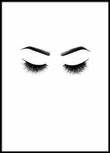Bild Hochkant Format : kokettes schwarz wei poster mit wimpern bei desenio ~ Orissabook.com Haus und Dekorationen