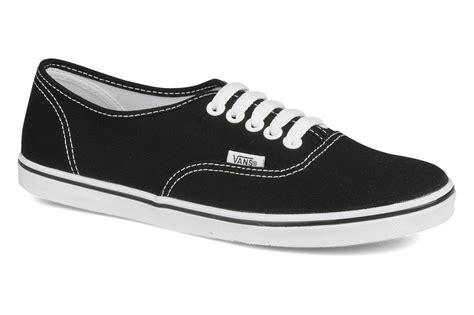 vans authentic lo pro w trainers in black at sarenza co uk 56235
