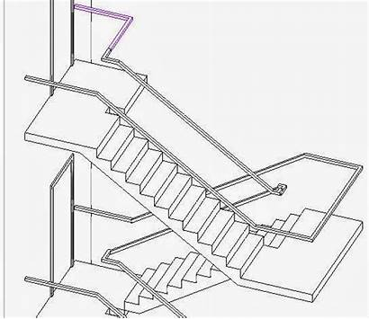Stair Revit Railings Story Different Stairs Landing