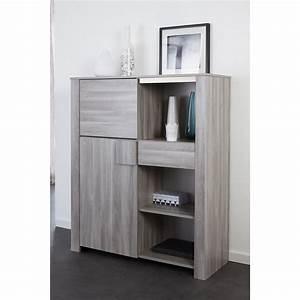 Meuble Rangement Gris : meuble de rangement moderne coloris ch ne gris ~ Teatrodelosmanantiales.com Idées de Décoration