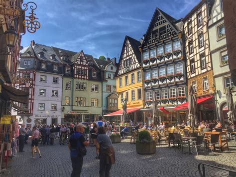 Stadt Cochem Cochem Germany Colourful Market Place Of