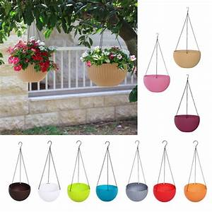 Wall, Fence, Plastic, Hanging, Basket, Garden, Plant, Flower, Pot, Planter, With, Chain