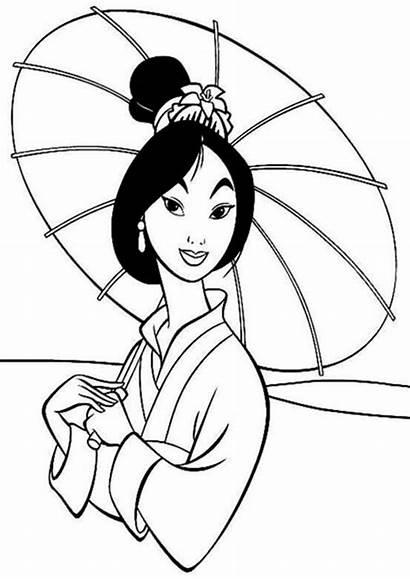 Coloring Chinese Mulan Traditional Fa Pages