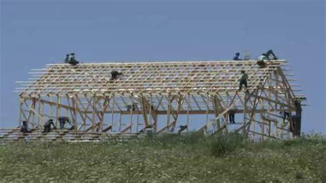 Amish Barn Raising by Time Lapse Amish Barn Raising