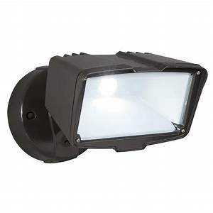All pro watt bronze outdoor integrated led large