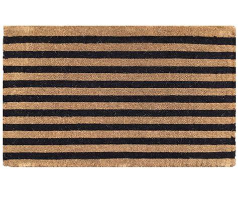 black and white striped doormat black stripe coir doormat