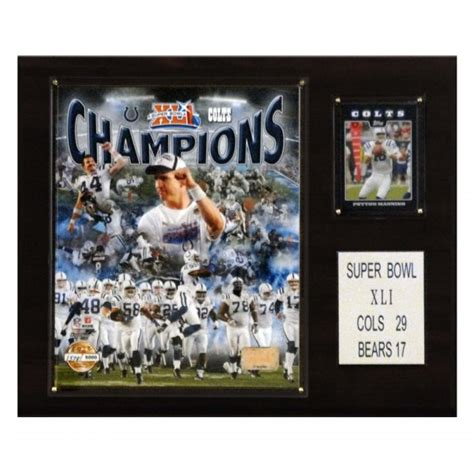 Candi Collectibles® 1215sb41gd Nfl Indianapolis Colts 12