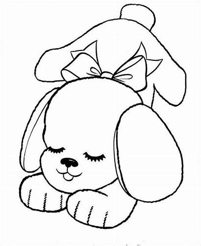 Coloring Puppy Pages Dog Template Templates Colouring