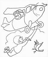 Acrobat Coloring Pages Plane Coloringbay sketch template