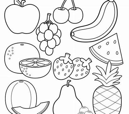 Coloring Fruit Pages Apple Fruits Colorings Printable